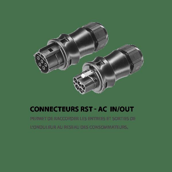 Connecteur RST triphasé fr