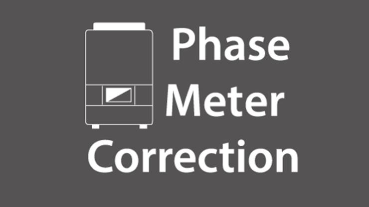 Imeon app phase meter correction