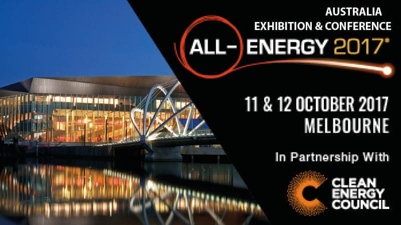 All Energy Exhibition 2017 – Melbourne, Australia